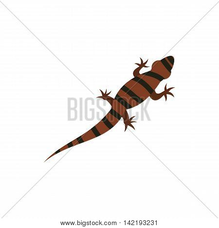 Ambistoma tiger, salamander icon in flat style on a white background