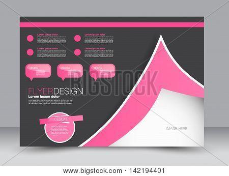 Flyer, Brochure, Billboard, Magazine Cover Template Design Landscape Orientation For Education, Pres