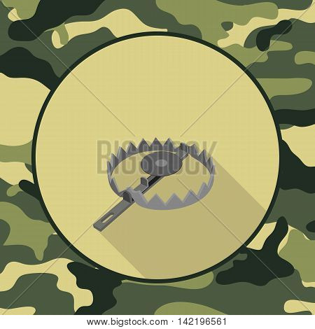 flat icon trapitem in camouflage vector format eps10