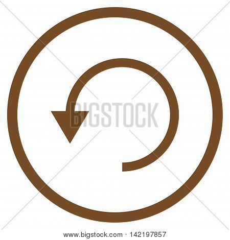 Rotate Ccw vector icon. Style is flat rounded iconic symbol, rotate ccw icon is drawn with brown color on a white background.