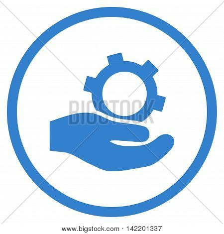 Engineering Service vector icon. Style is flat rounded iconic symbol, engineering service icon is drawn with cobalt color on a white background.