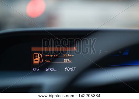 picture of car instrument panel,Focus on Car Dashboard