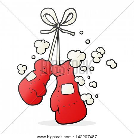 freehand drawn cartoon boxing gloves