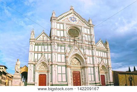 The Basilica di Santa Croce or Basilica of the Holy Cross - famous Franciscan church on Florence Italy