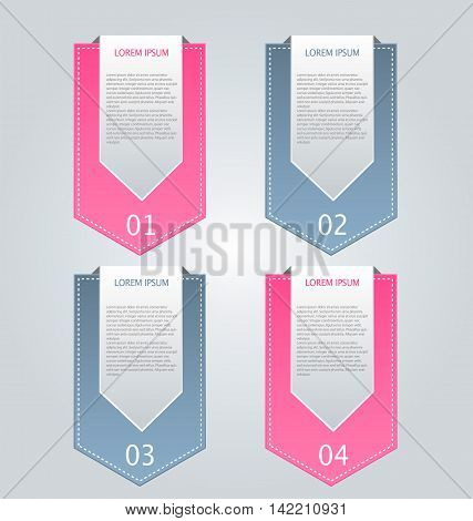 Business Infographics Tabs Template For Presentation, Education, Web Design, Banner, Brochure, Flyer