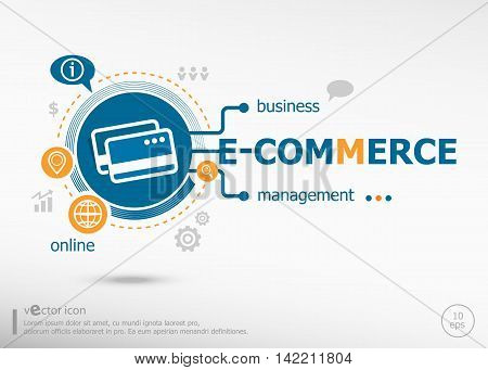 E-commerce Concept For Creative Process.