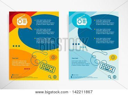 Retro Radio Symbol On Chat Speech Bubbles