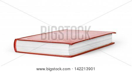book red on white background book, red