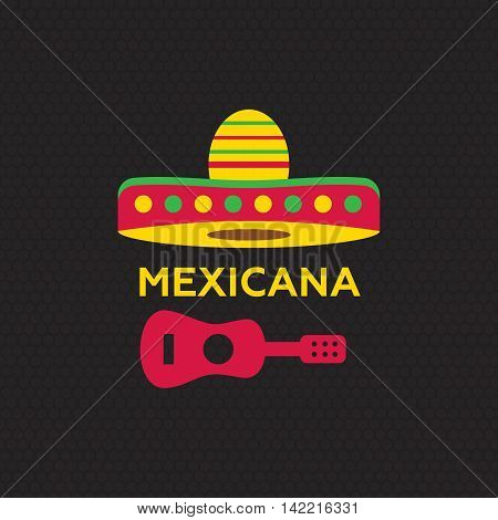 Mexican food logo. Mexican Fast food logotype template eps10