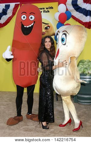 LOS ANGELES - AUG 9:  Sausage, Salma Hayek, Teresa Taco at the