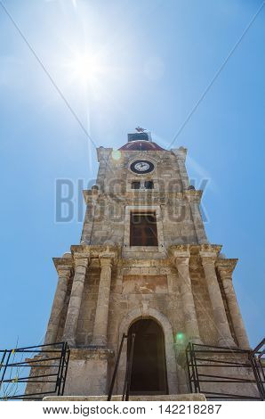 belfry of the church infortress of Rhodes, Greece