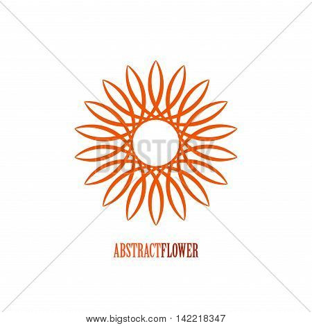 Vector Abstract Flower Mandala Icon isolated over white background. Invitation element. Tattoo, astrology, alchemy, boho, logo and magic symbol for your projects. Easy use and recolor.