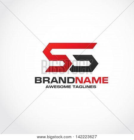 Letter SG  creative logo strong elegant classy concept