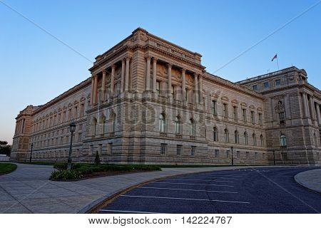 Library Of Congress Building In Washington Usa