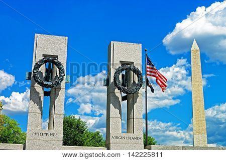Washington Monument Near The World War Ii Memorial