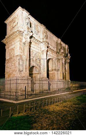 Arch Of Constantine Roman Forum In Rome In Italy
