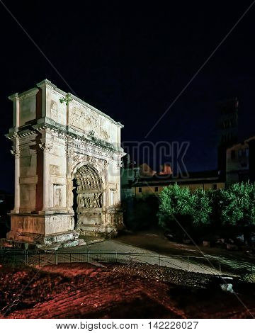 Arch Of Constantine At Roman Forum In Rome In Italy