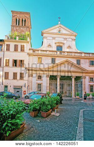 Basilica Di Sant Eustachio In Campo Marzio In Rome Italy
