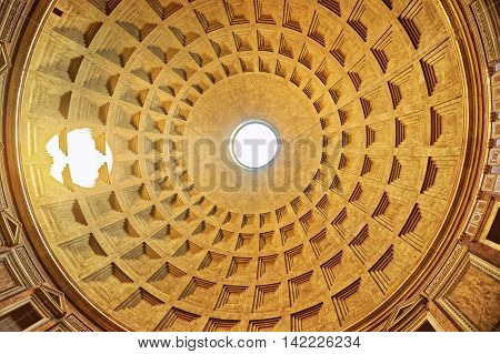 Dome Of Pantheon In Rome In Italy