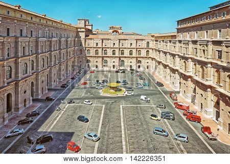 Inside Of The Vatican City In Rome Italy