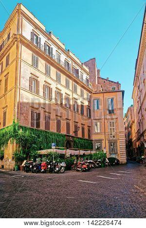 Piazza Del Caprettari In Rome In Italy