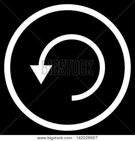 Rotate Ccw vector icon. Style is flat rounded iconic symbol, rotate ccw icon is drawn with white color on a black background.