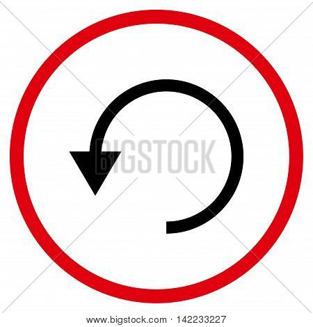 Rotate Ccw vector icon. Style is bicolor flat rounded iconic symbol, rotate ccw icon is drawn with intensive red and black colors on a white background.