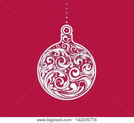 Vector Christmas decorative greeting card design.