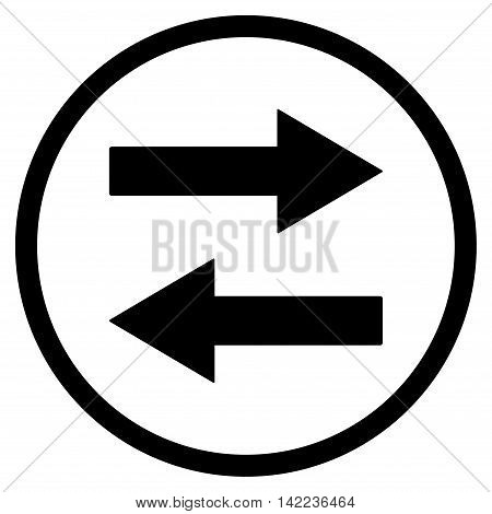 Horizontal Flip Arrows vector icon. Style is flat rounded iconic symbol, horizontal flip arrows icon is drawn with black color on a white background.