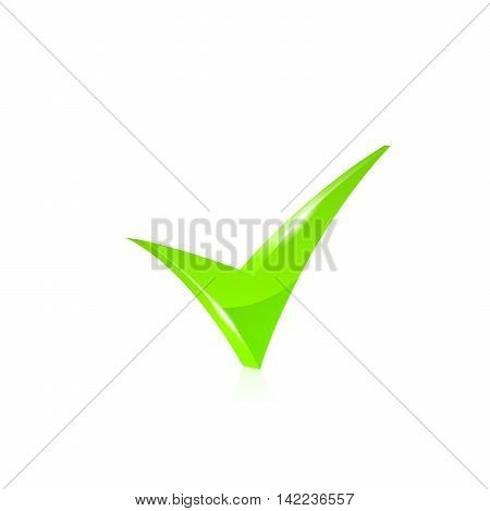 Vector green checkmark icon set on white background.