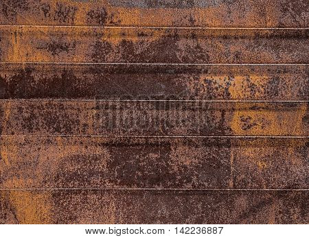 Rusty ginger metal old times background in brown tones