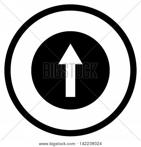 Up Rounded Arrow vector icon. Style is flat rounded iconic symbol, up rounded arrow icon is drawn with black color on a white background.
