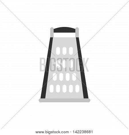 Cooking kitchen grater icon in flat style isolated on white background