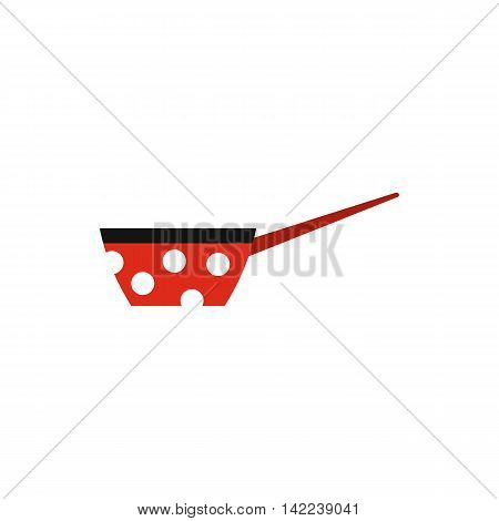 Saucepan with handle icon in flat style isolated on white background