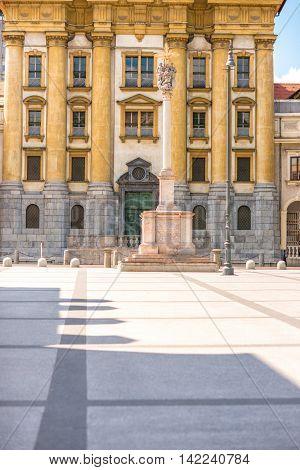Ursuline church of the Holy Trinity in Ljubljana city in Slovenia