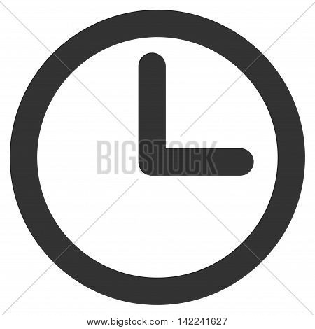 Time vector icon. Style is stroke flat icon symbol, gray color, white background.
