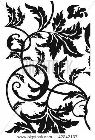Liana pattern, ivy pattern, forging pattern, decorative pattern, swirl pattern, vine pattern, ornamental pattern, vintage pattern. Vector