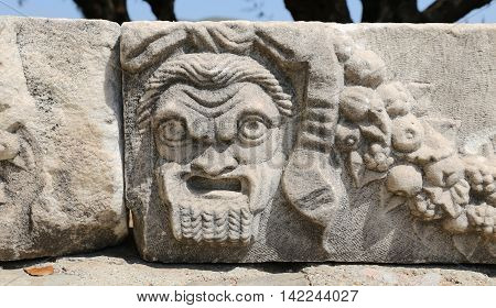 Face Relief In Bodrum Castle