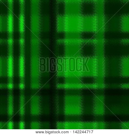 Textured soft tartan plaid. Seamless bright green pattern checkered print