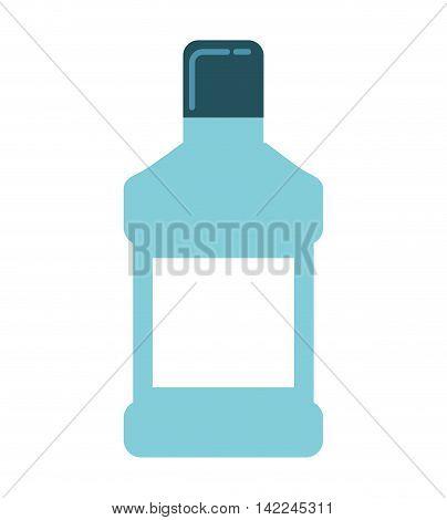 mouthwash bottle isolated icon vector illustration, eps10