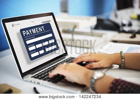 Payment Electronic E-commerce Credit E-payment Concept