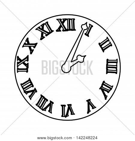 time clock roman numbers vector illustration, eps10