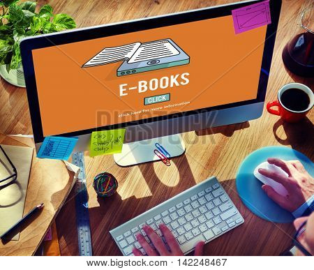 E-Books E-Reader Media Literature Innovation Technology Concept