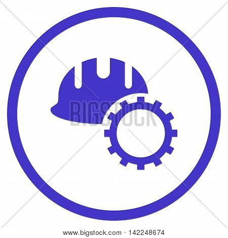 Development Hardhat vector icon. Style is flat rounded iconic symbol, development hardhat icon is drawn with violet color on a white background.