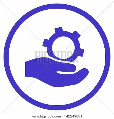 Engineering Service vector icon. Style is flat rounded iconic symbol, engineering service icon is drawn with violet color on a white background.