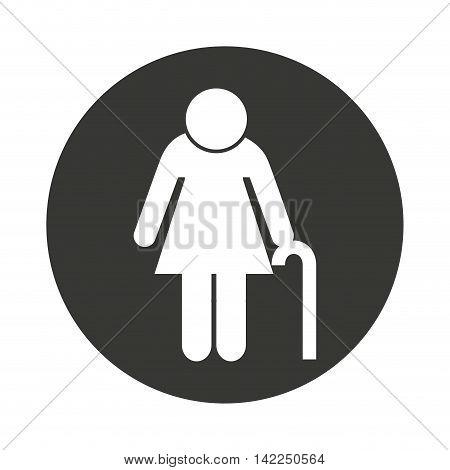 grandparent silhouette isolated icon vector illustration design