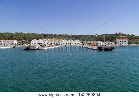 Mahon/Spain. 21st June 2012. The port of Mahon in Menorca on a warm summer's day.