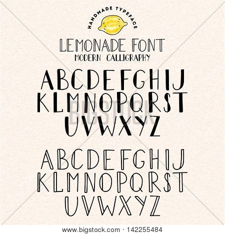 Vector handwritten alphabet illustration