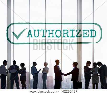 Authorized Approve Permission Sanction Graphic Concept