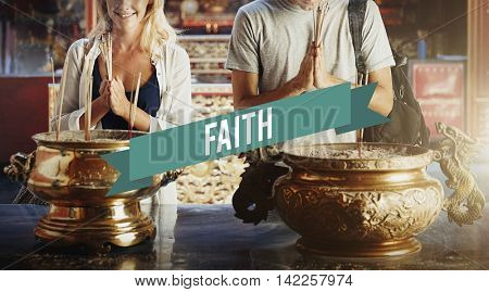 Belief Faith Spirituality Shrine Temple Concept